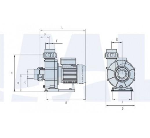 αντλια πισινας IML BCC NEW απο 3-5.5 HP