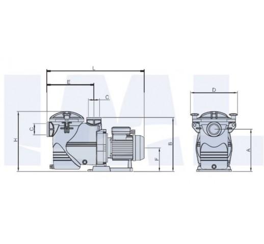 αντλια πισινας IML EUROPA  SE2N απο 0.5-3HP