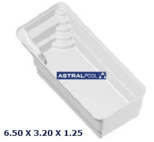 FIBERFLASS POOL DELTA ASTRALPOOL 6.50X3.20X1.25
