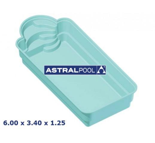 FIBERFLASS POOL GOLF ASTRALPOOL 6.00X3.40X1.25