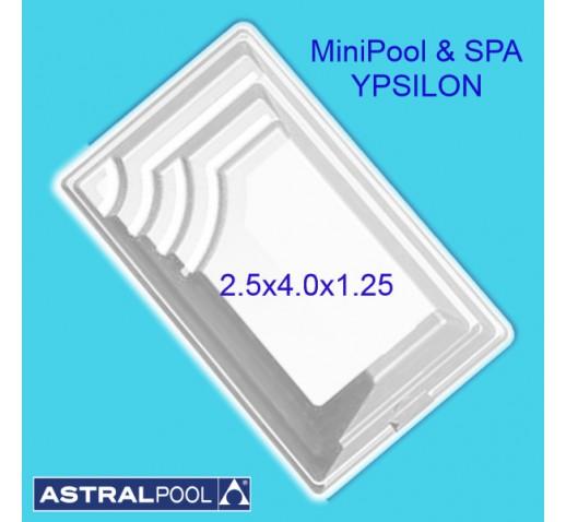 Fiberglass Pool SPA YPSILON 2.5X4.0X1.25m