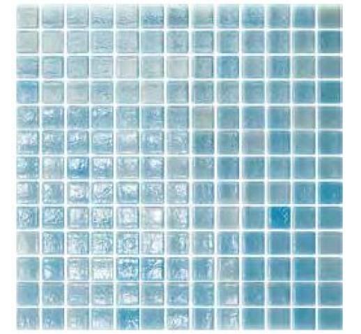 GLASS MOSAIC 25mm x 25mm  NIEBLA PISCINA