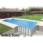 Skypool with magnellis metal panels 8x4x1.5 (m)