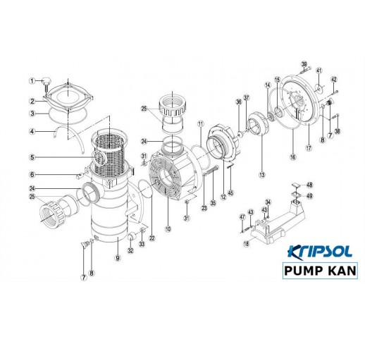PARTS FOR FOR KAN SERIES KRIPSOL PUMP