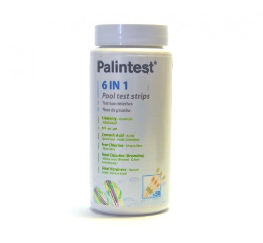 Pool Test Strips 6 in 1 Palintest