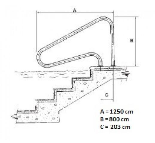 Handrail with external attachmentHaltestangen