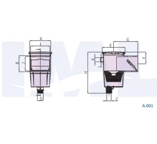 skimmer for concrete  IML Α001